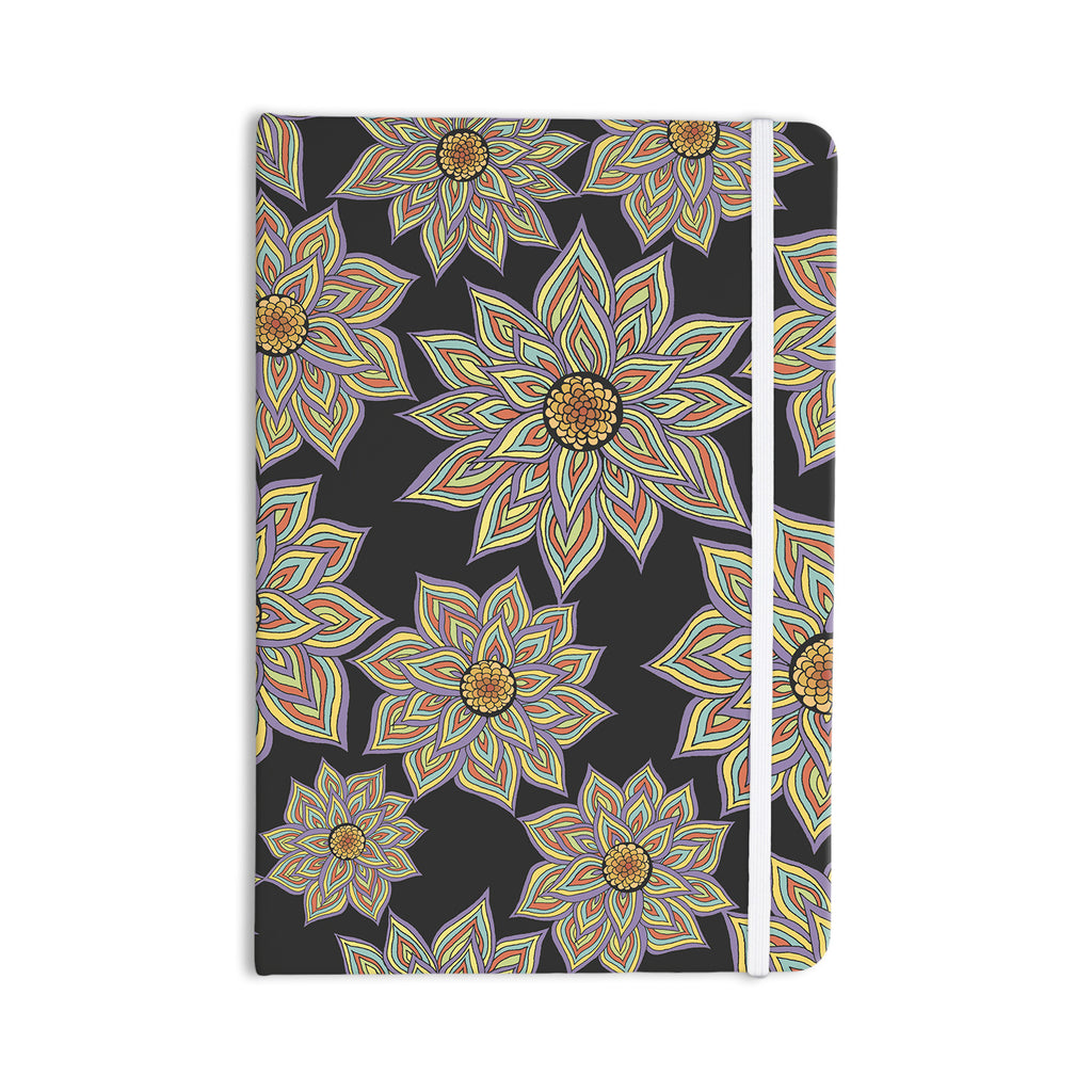 "Pom Graphic Design ""Floral Dance in the Dark"" Everything Notebook - KESS InHouse  - 1"
