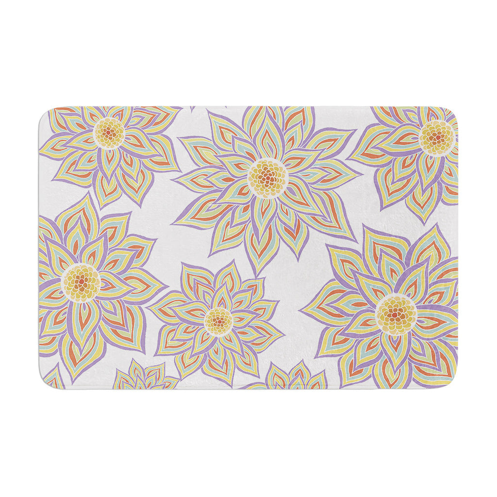 "Pom Graphic Design ""Floral Dance"" Memory Foam Bath Mat - KESS InHouse"