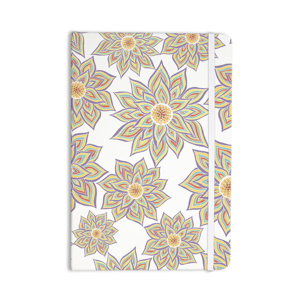 "Pom Graphic Design ""Floral Dance"" Everything Notebook - KESS InHouse  - 1"