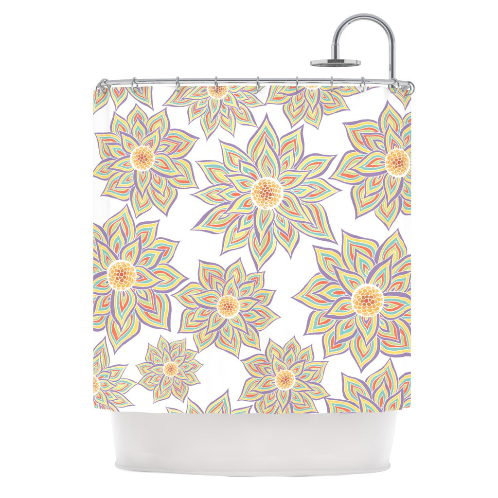 "Pom Graphic Design ""Floral Dance"" Shower Curtain - KESS InHouse"