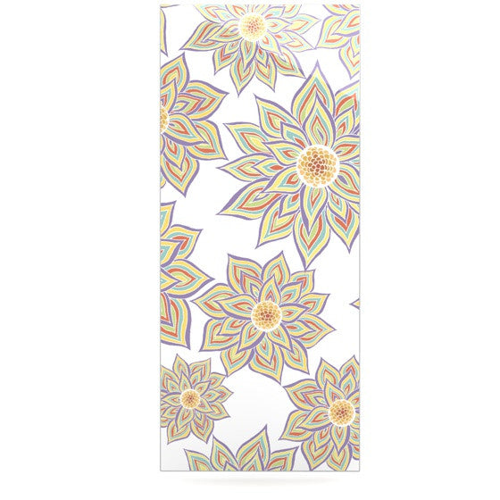 "Pom Graphic Design ""Floral Dance"" Luxe Rectangle Panel - KESS InHouse  - 1"