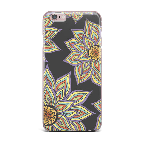 "Pom Graphic Design ""Floral Rhythm in the Dark"" iPhone Case - KESS InHouse"