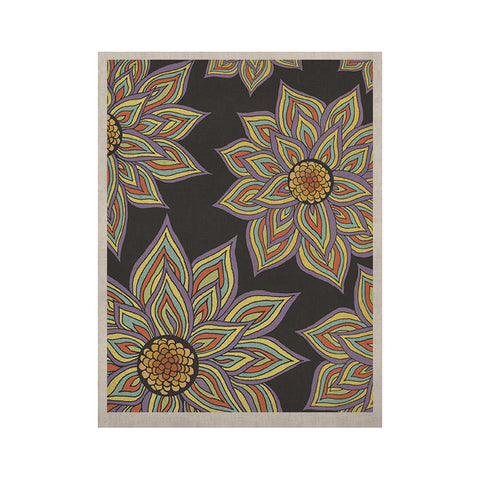 "Pom Graphic Design ""Floral Rhythm in the Dark"" KESS Naturals Canvas (Frame not Included) - KESS InHouse  - 1"