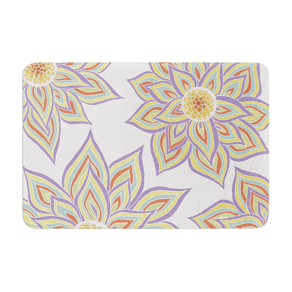 "Pom Graphic Design ""Floral Rhythm"" Memory Foam Bath Mat - KESS InHouse"
