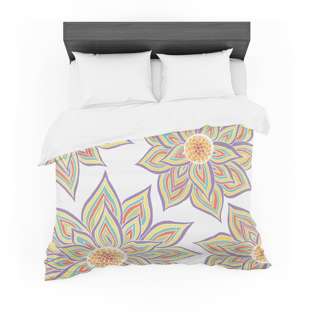 "Pom Graphic Design ""Floral Rhythm"" Cotton Duvet"