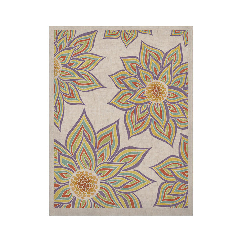 "Pom Graphic Design ""Floral Rhythm"" KESS Naturals Canvas (Frame not Included) - KESS InHouse  - 1"