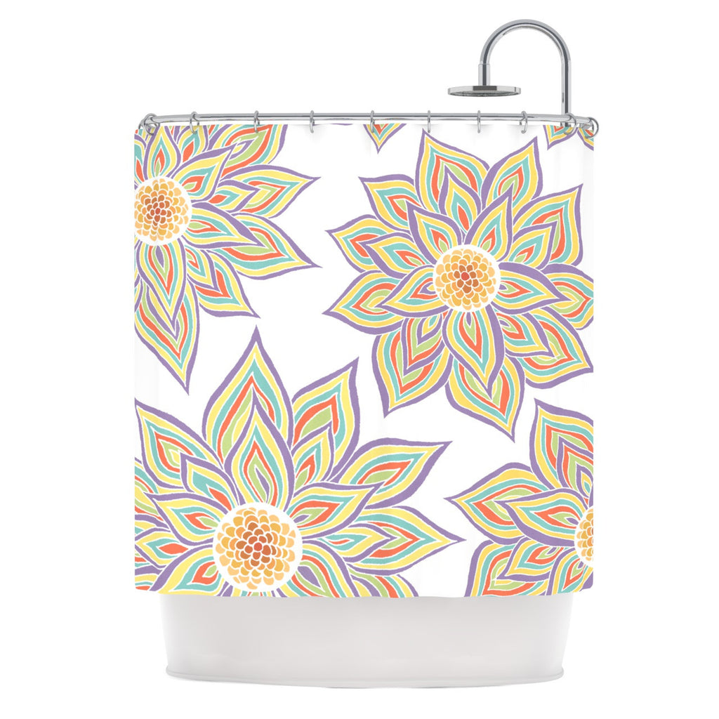 "Pom Graphic Design ""Floral Rhythm"" Shower Curtain - KESS InHouse"