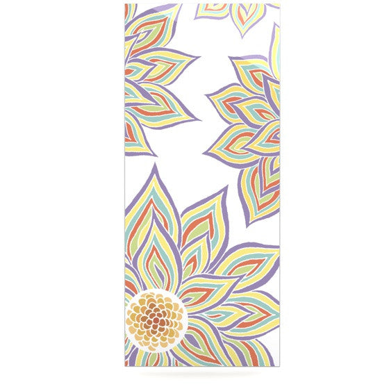 "Pom Graphic Design ""Floral Rhythm"" Luxe Rectangle Panel - KESS InHouse  - 1"