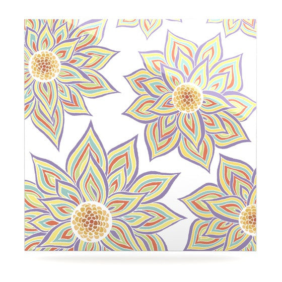 "Pom Graphic Design ""Floral Rhythm"" Luxe Square Panel - KESS InHouse  - 1"
