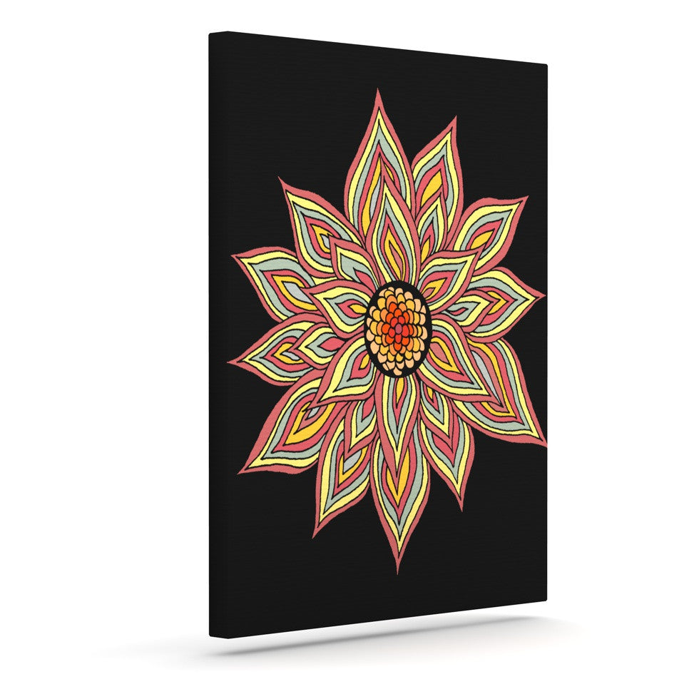 "Pom Graphic Design ""Incandescent Flower"" Outdoor Canvas Wall Art - KESS InHouse  - 1"