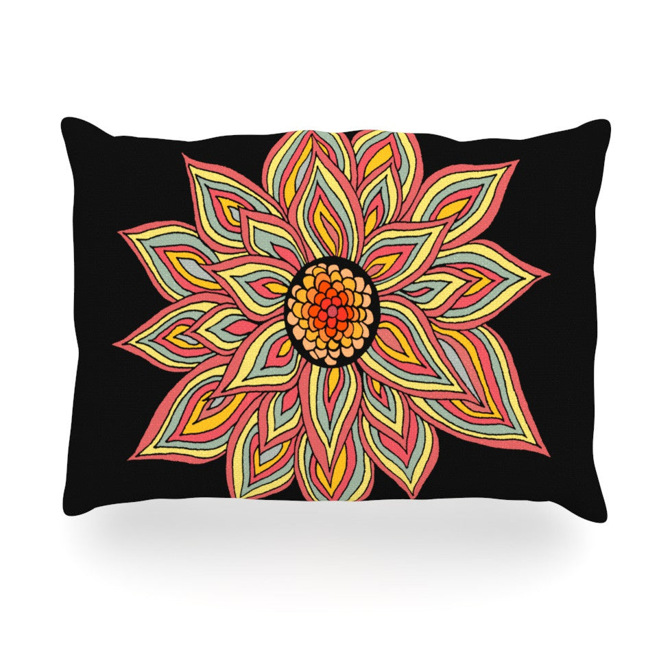 "Pom Graphic Design ""Incandescent Flower"" Oblong Pillow - KESS InHouse"