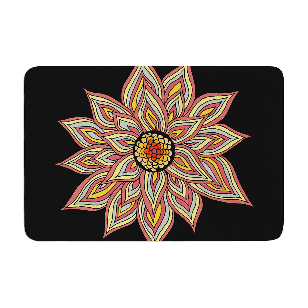 "Pom Graphic Design ""Incandescent Flower"" Memory Foam Bath Mat - KESS InHouse"