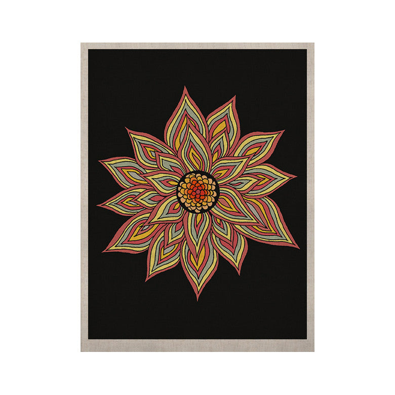 "Pom Graphic Design ""Incandescent Flower"" KESS Naturals Canvas (Frame not Included) - KESS InHouse  - 1"