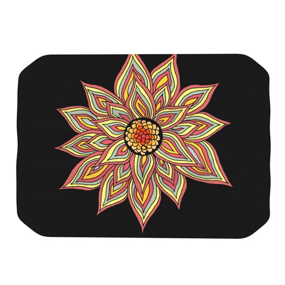 "Pom Graphic Design ""Incandescent Flower"" Place Mat - KESS InHouse"