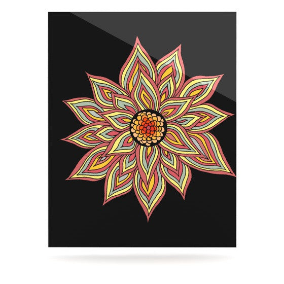 "Pom Graphic Design ""Incandescent Flower"" Luxe Rectangle Panel - KESS InHouse"