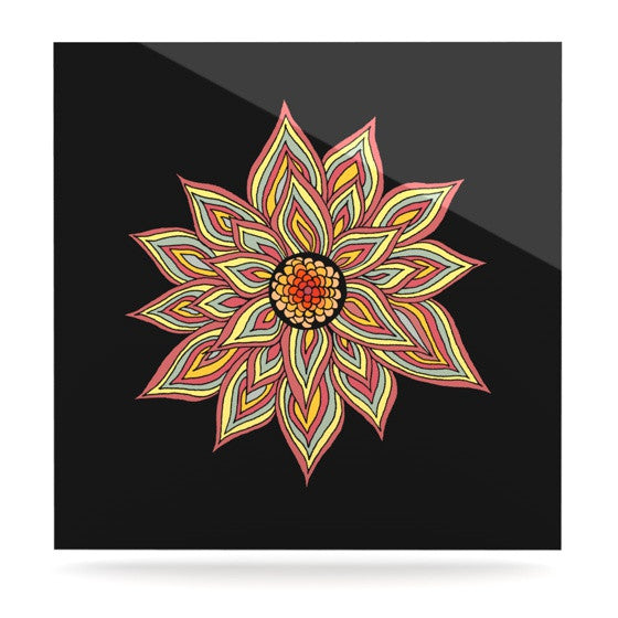 "Pom Graphic Design ""Incandescent Flower"" Luxe Square Panel - KESS InHouse  - 1"