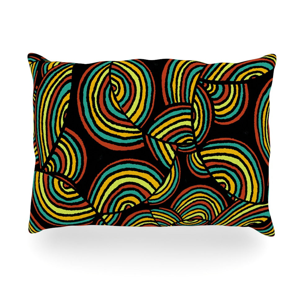 "Pom Graphic Design ""Infinite Depth"" Oblong Pillow - KESS InHouse"