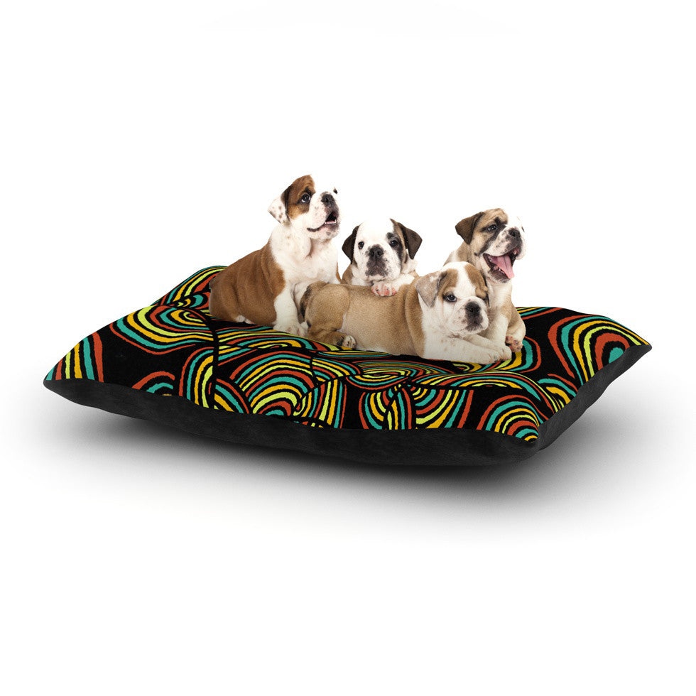 "Pom Graphic Design ""Infinite Depth"" Dog Bed - KESS InHouse  - 1"