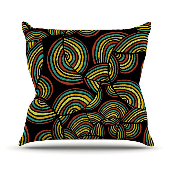 "Pom Graphic Design ""Infinite Depth"" Throw Pillow - KESS InHouse  - 1"