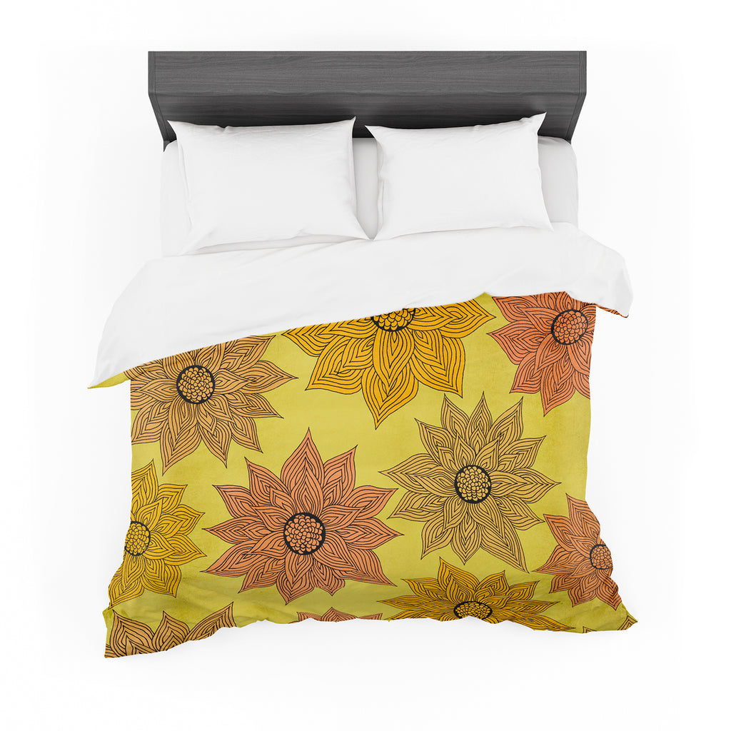 "Pom Graphic Design ""It's Raining Flowers"" Cotton Duvet"