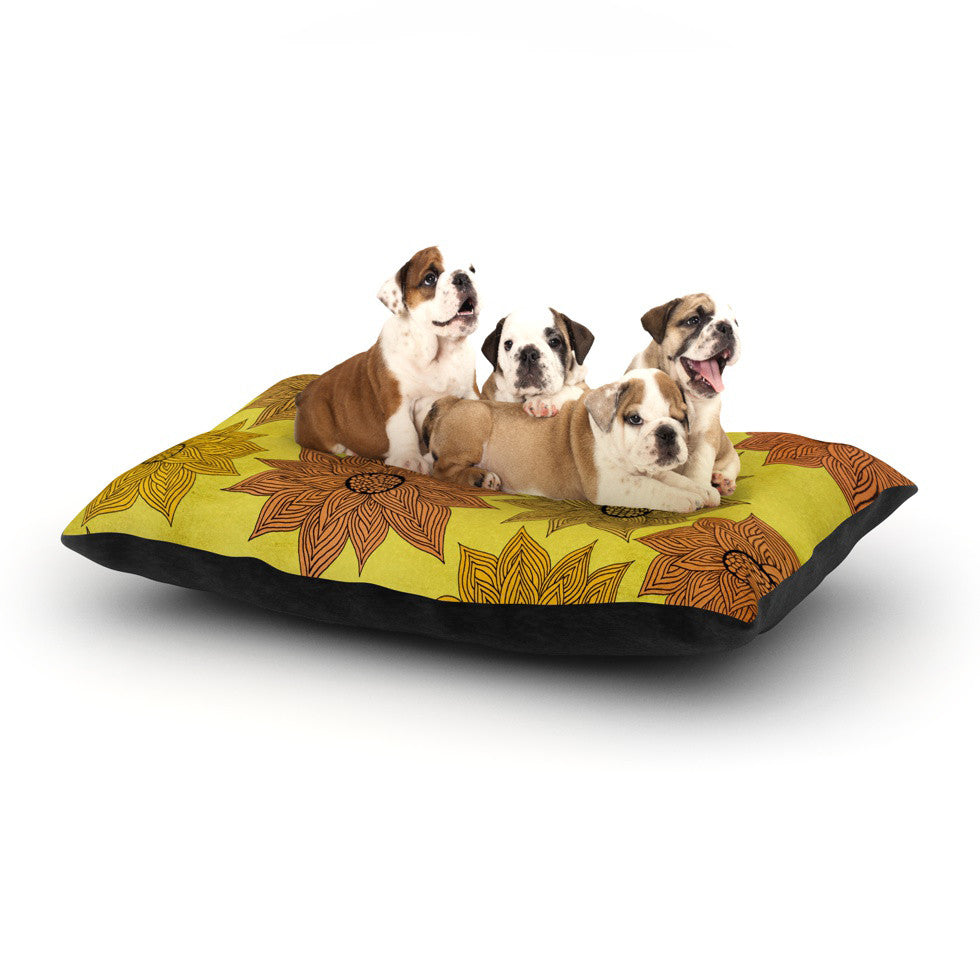 "Pom Graphic Design ""It's Raining Flowers"" Dog Bed - KESS InHouse  - 1"