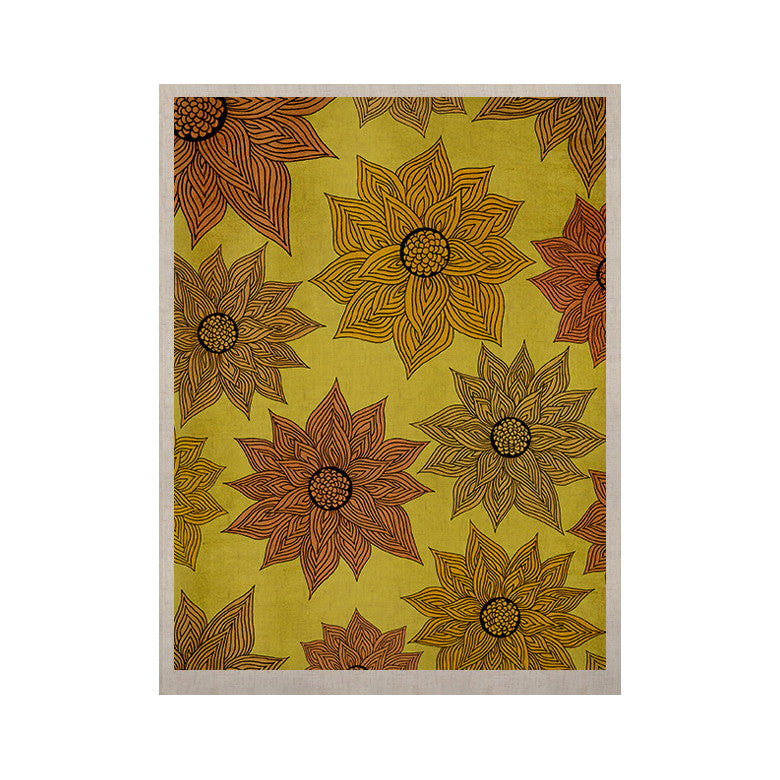 "Pom Graphic Design ""It's Raining Flowers"" KESS Naturals Canvas (Frame not Included) - KESS InHouse  - 1"