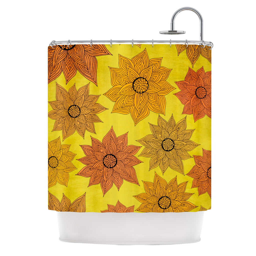 "Pom Graphic Design ""It's Raining Flowers"" Shower Curtain - KESS InHouse"