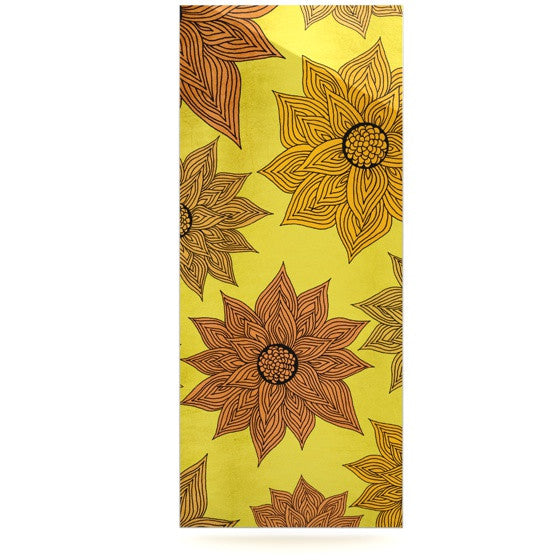"Pom Graphic Design ""It's Raining Flowers"" Luxe Rectangle Panel - KESS InHouse  - 1"