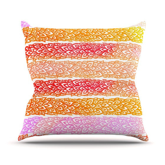 "Pom Graphic Design ""Leafs from Paradise"" Outdoor Throw Pillow - KESS InHouse  - 1"