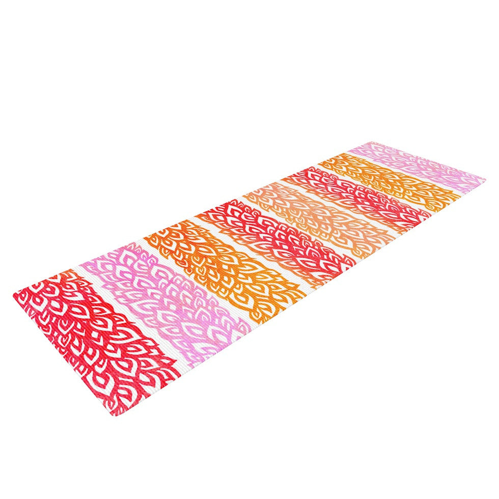 "Pom Graphic Design ""Leafs from Paradise"" Yoga Mat - KESS InHouse  - 1"