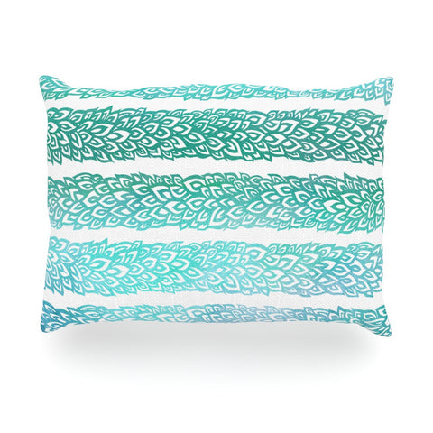 "Pom Graphic Design ""Leafs from Paradise II"" Oblong Pillow - KESS InHouse"