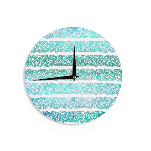 "Pom Graphic Design ""Leafs from Paradise II"" Wall Clock - KESS InHouse"