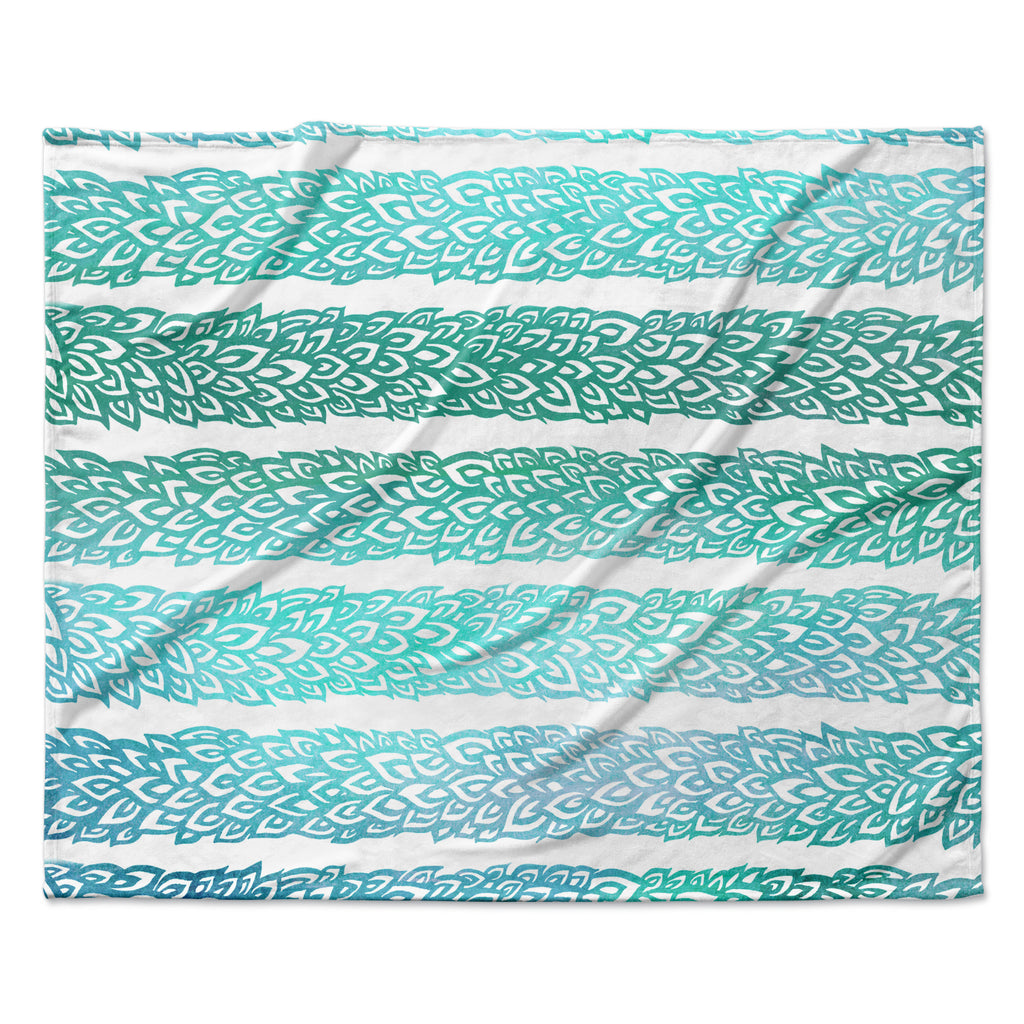 "Pom Graphic Design ""Leafs from Paradise II"" Fleece Throw Blanket"