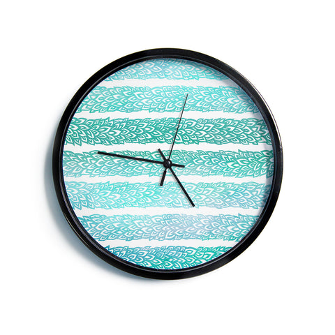"Pom Graphic Design ""Leafs from Paradise II""  Modern Wall Clock"