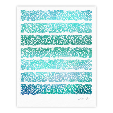 "Pom Graphic Design ""Leafs from Paradise II"" Fine Art Gallery Print - KESS InHouse"
