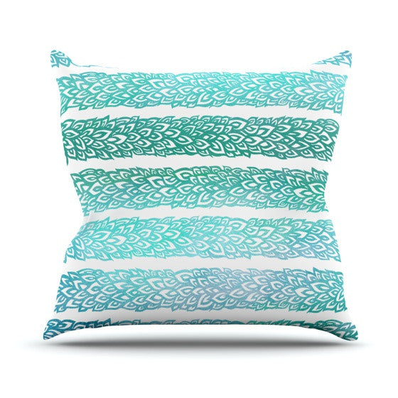 "Pom Graphic Design ""Leafs from Paradise II"" Throw Pillow - KESS InHouse  - 1"