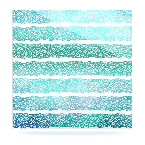"Pom Graphic Design ""Leafs from Paradise II"" Luxe Square Panel - KESS InHouse  - 1"