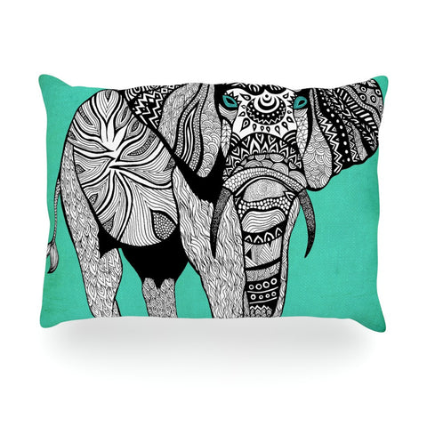 "Pom Graphic Design ""Elephant of Namibia Color"" Oblong Pillow - KESS InHouse"
