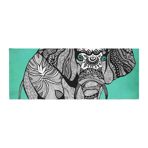 "Pom Graphic Design ""Elephant of Namibia Color"" Bed Runner - KESS InHouse"