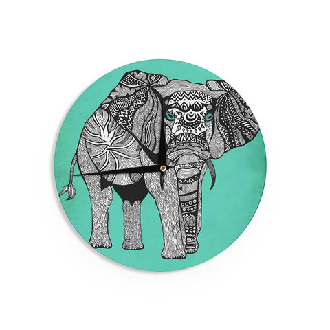 "Pom Graphic Design ""Elephant of Namibia Color"" Wall Clock - KESS InHouse"