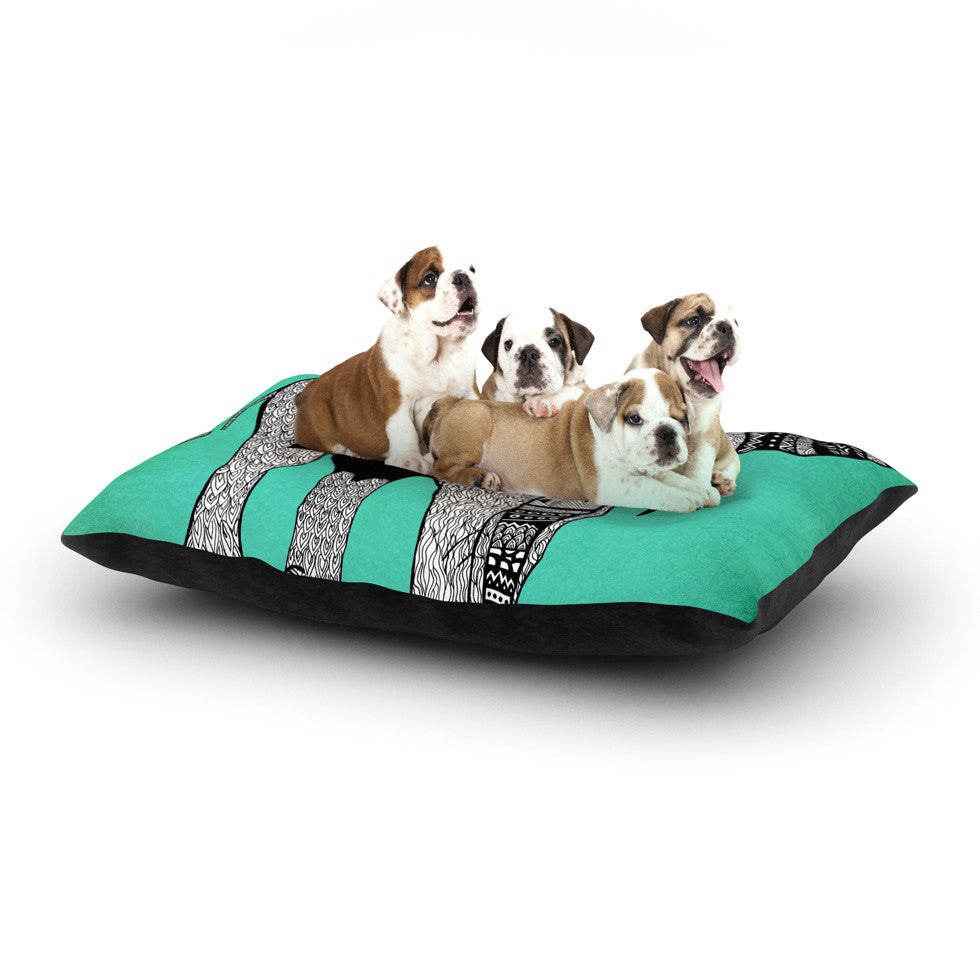 "Pom Graphic Design ""Elephant of Namibia Color"" Dog Bed - KESS InHouse  - 1"