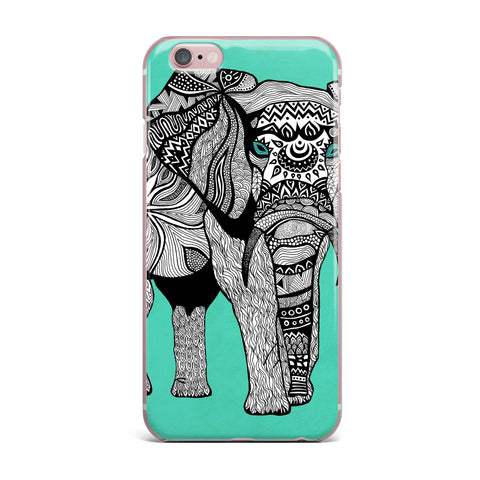 "Pom Graphic Design ""Elephant of Namibia Color"" iPhone Case - KESS InHouse"