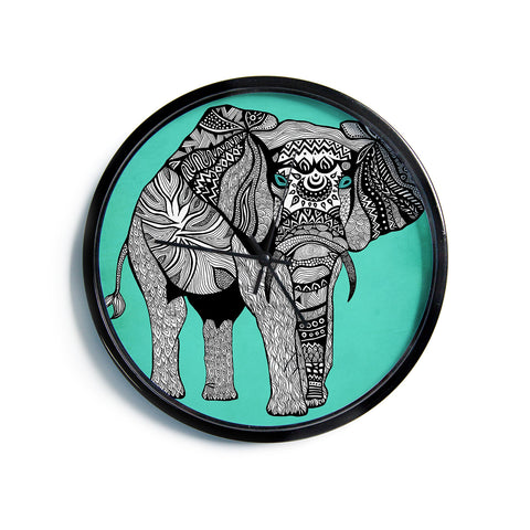 "Pom Graphic Design ""Elephant of Namibia Color""  Modern Wall Clock"