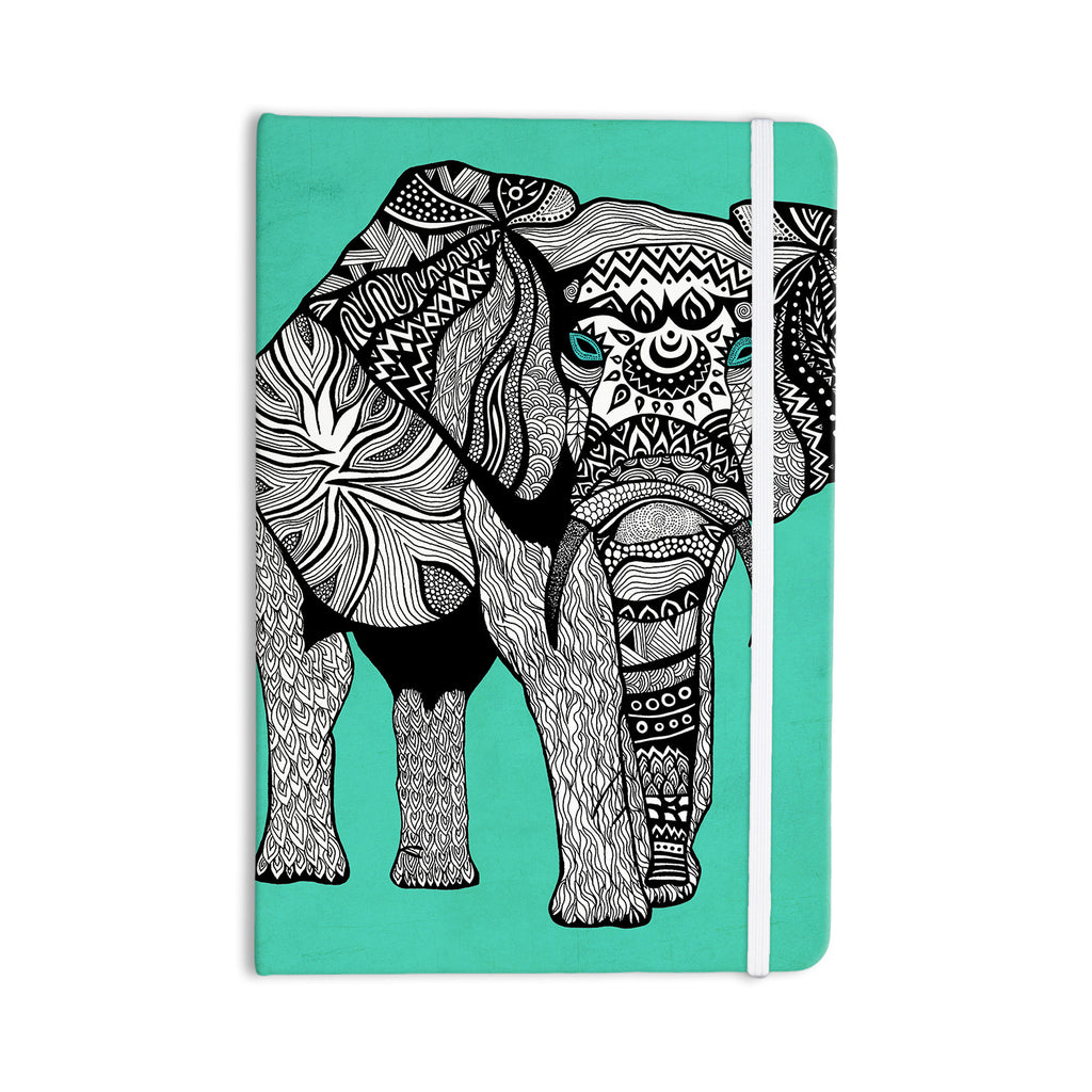"Pom Graphic Design ""Elephant of Namibia Color"" Everything Notebook - KESS InHouse  - 1"