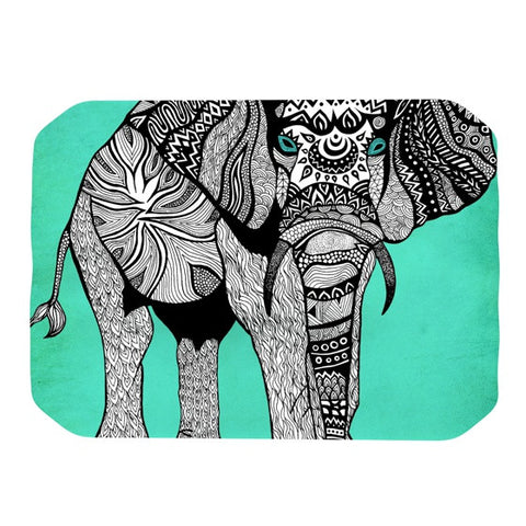 "Pom Graphic Design ""Elephant of Namibia Color"" Place Mat - KESS InHouse"