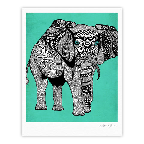 "Pom Graphic Design ""Elephant of Namibia Color"" Fine Art Gallery Print - KESS InHouse"