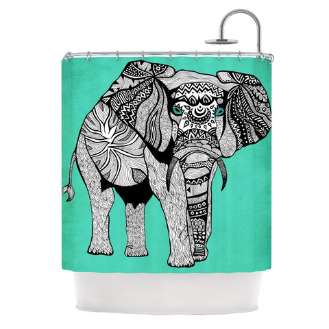 "Pom Graphic Design ""Elephant of Namibia Color"" Shower Curtain - KESS InHouse"
