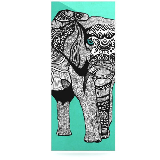 "Pom Graphic Design ""Elephant of Namibia Color"" Luxe Rectangle Panel - KESS InHouse  - 1"