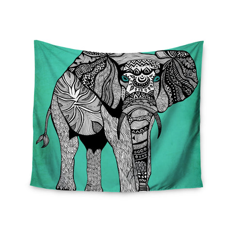 "Pom Graphic Design ""Elephant of Namibia Color"" Wall Tapestry - KESS InHouse  - 1"