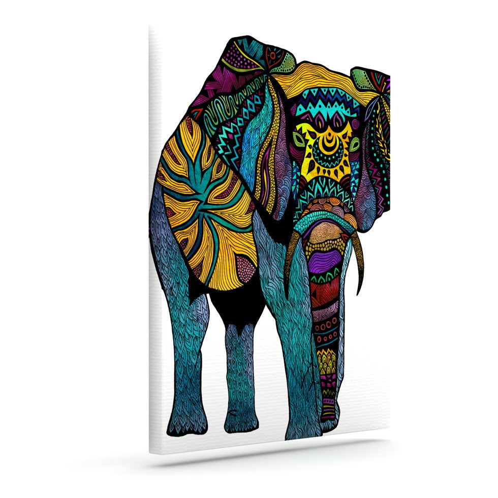 "Pom Graphic Design ""Elephant of Namibia"" Outdoor Canvas Wall Art - KESS InHouse  - 1"